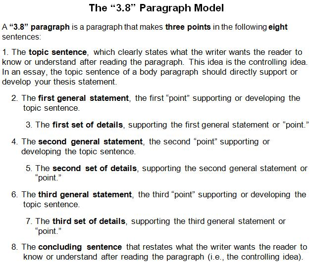 3 8 Paragragh Model