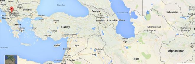 Map Kabul to Europe