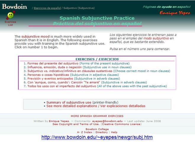 Bowdoin Subjunctive practice